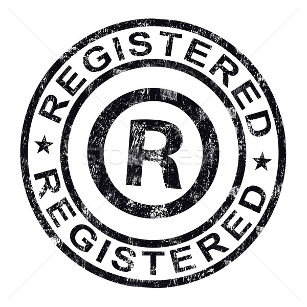 Registered Stamp Shows Copyright Or Trademark Stock photo © stuartmiles