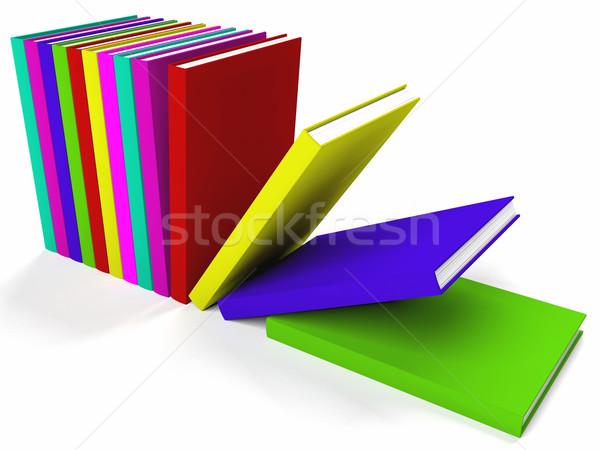 Books On A Shelf Showing Learning Or Education Stock photo © stuartmiles