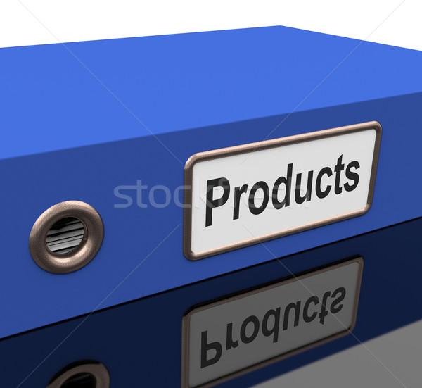 Produto arquivo catálogo bens venda Foto stock © stuartmiles