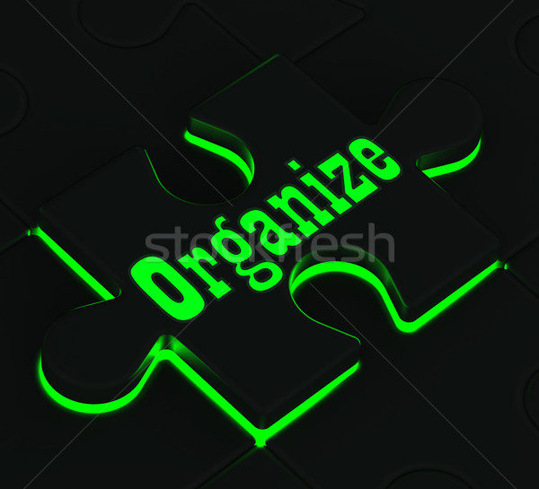 Organize Puzzle Showing Organization And Managing Stock photo © stuartmiles