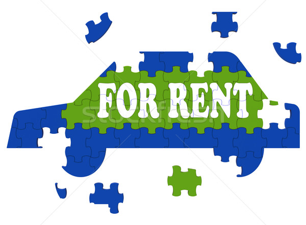 Car For Rent Shows Vehicle To Borrow Stock photo © stuartmiles