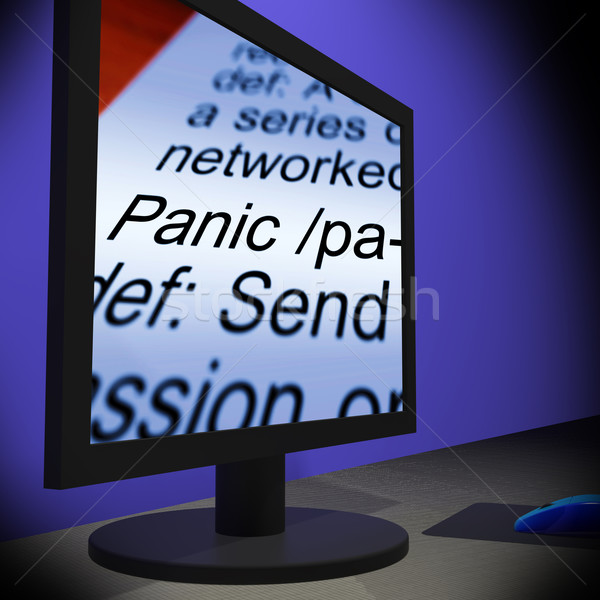 Panic On Monitor Shows Panicking Stock photo © stuartmiles