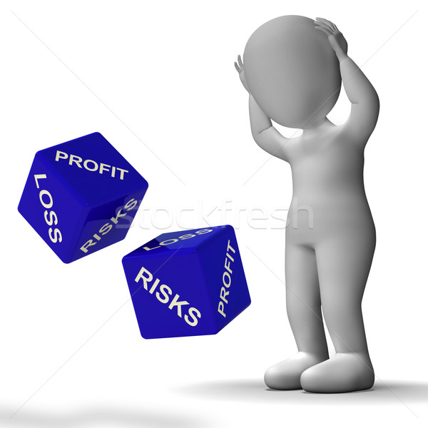 Profit And Loss Dice Shows Returns For Business Stock photo © stuartmiles