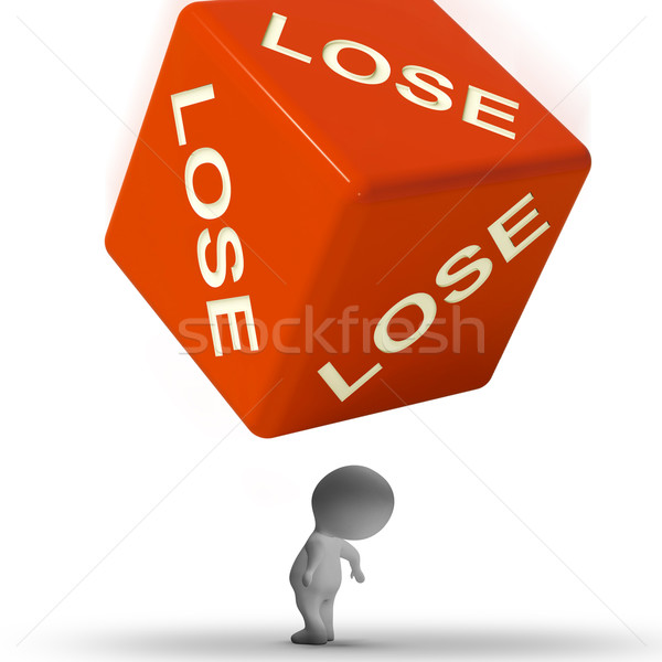 Perder dados derrotar pérdida fracaso juego Foto stock © stuartmiles