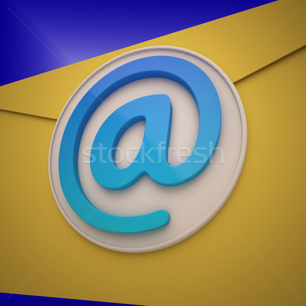 Email Envelope Shows Contact Mailing Online Stock photo © stuartmiles