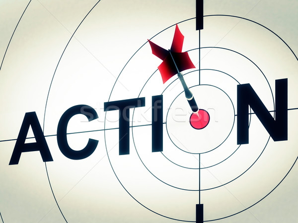 Action actif motivation proactive cible disque Photo stock © stuartmiles