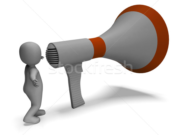 Loud Hailer Character Shows Announcing Explaining And Megaphone  Stock photo © stuartmiles