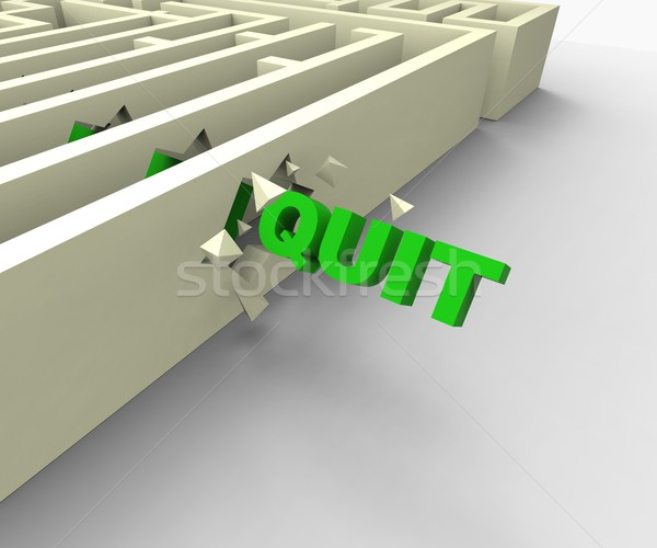 Quit Word Shows Giving Up Or Resigning Stock photo © stuartmiles