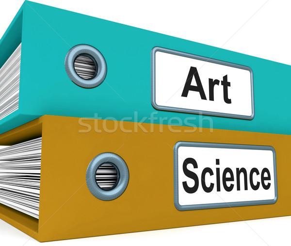 Art Science Folders Mean Humanities Or Sciences Stock photo © stuartmiles