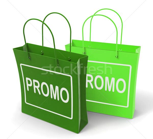 рекламный мешки шоу скидка сокращение продажи Сток-фото © stuartmiles