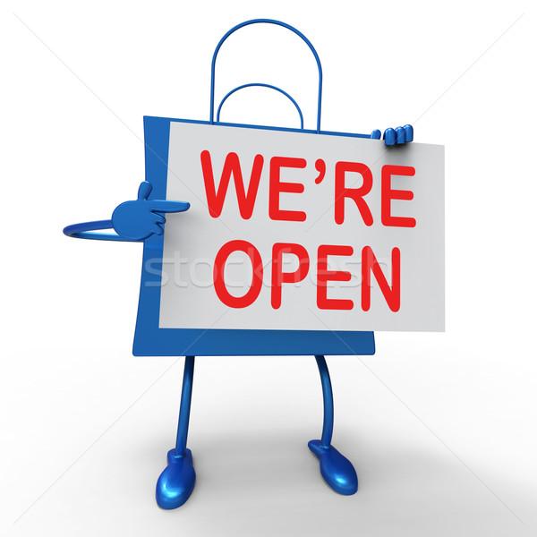 сумку новых магазине запуск открытие Сток-фото © stuartmiles