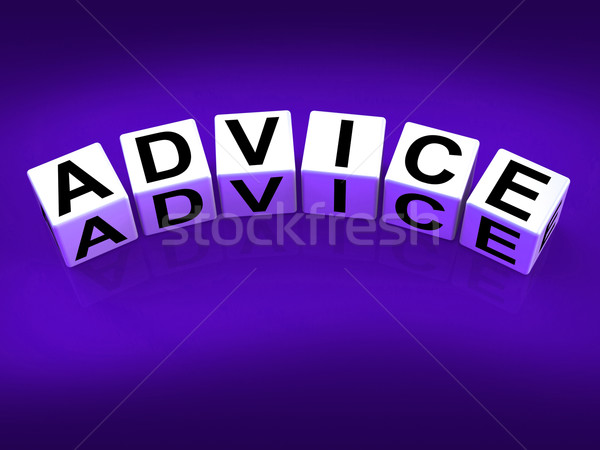 Advice Blocks Indicate Direction Recommendation and Guidance Stock photo © stuartmiles