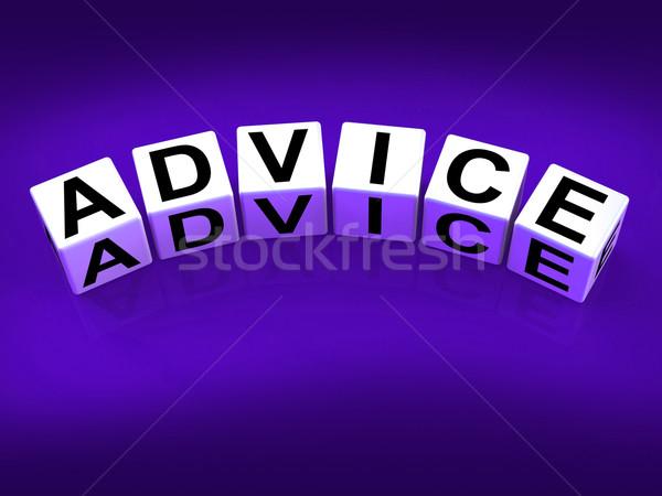 Conselho blocos direção recomendação Foto stock © stuartmiles