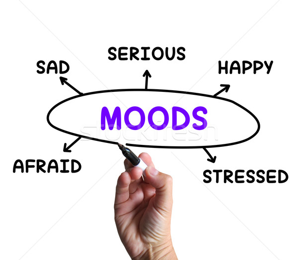 Moods Diagram Means Happy Sad And Feelings Stock photo © stuartmiles
