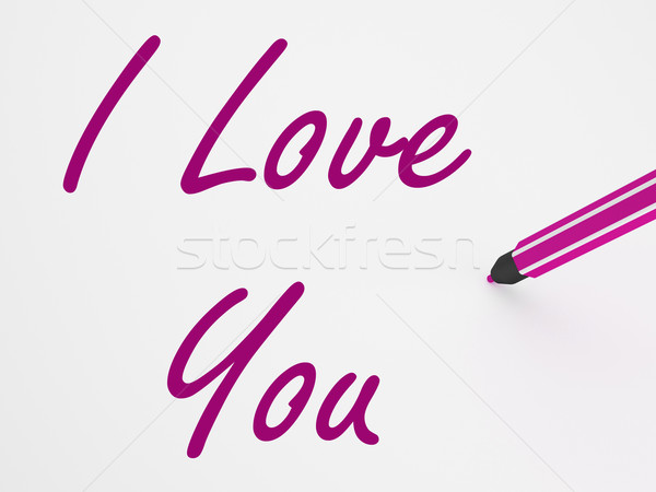 I Love You On Whiteboard Shows Dating And Romance Stock photo © stuartmiles