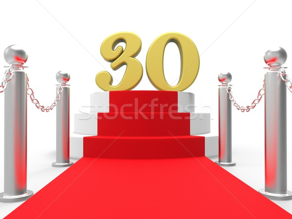 Golden Thirty On Red Carpet Shows Film Industry Anniversary Even Stock photo © stuartmiles