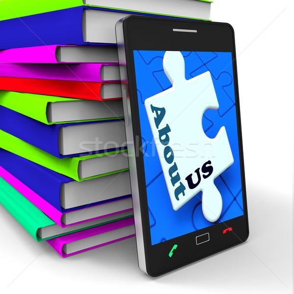 Over ons smartphone wat website betekenis Stockfoto © stuartmiles