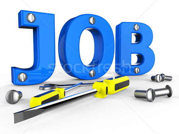 Job Word Means Hire Me And Career Stock photo © stuartmiles