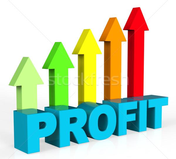 Növekedés nyereség emelkedő haladás kereskedés profit Stock fotó © stuartmiles