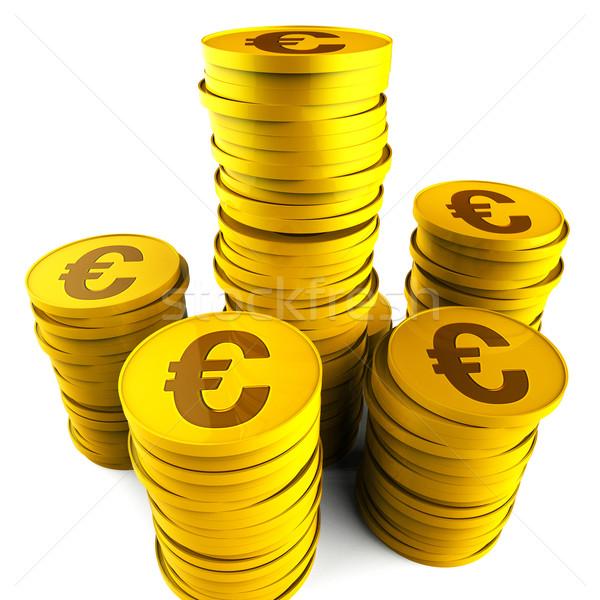 Euro spaargeld financieren kosten cash Stockfoto © stuartmiles