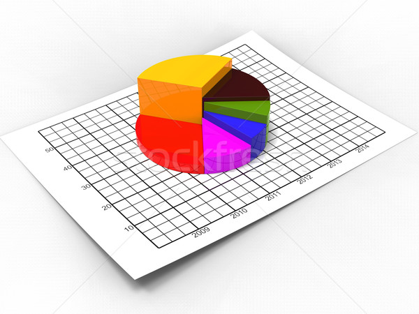 Pie Chart Shows Business Graph And Biz Stock photo © stuartmiles