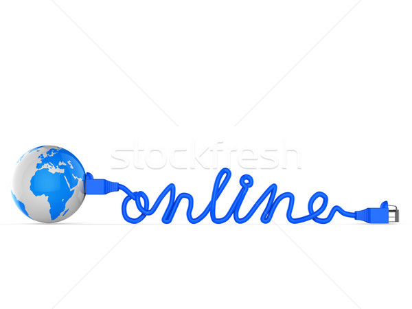 Internet online world wide web terra sito Foto d'archivio © stuartmiles
