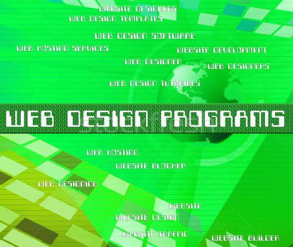 Web design software sviluppo design web net Foto d'archivio © stuartmiles