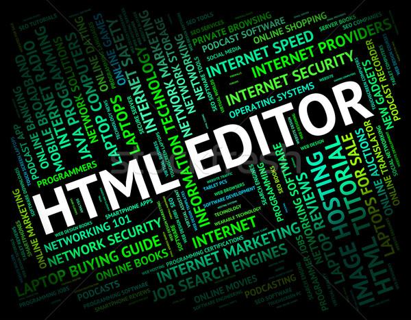 Html szerkesztő hipertext nyelv főnök programozás Stock fotó © stuartmiles
