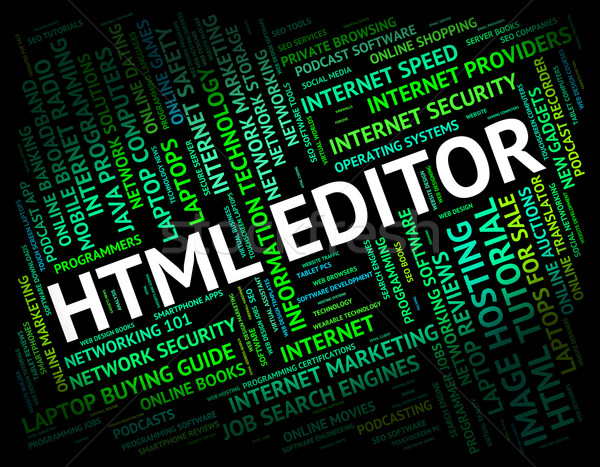Html editor hypertext taal baas programmering Stockfoto © stuartmiles