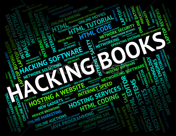 Stock photo: Hacking Books Represents Hackers Virus And Fiction