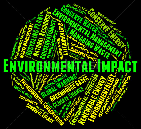 Environmental Impact Means Environmentally Consequence And Asses Stock photo © stuartmiles