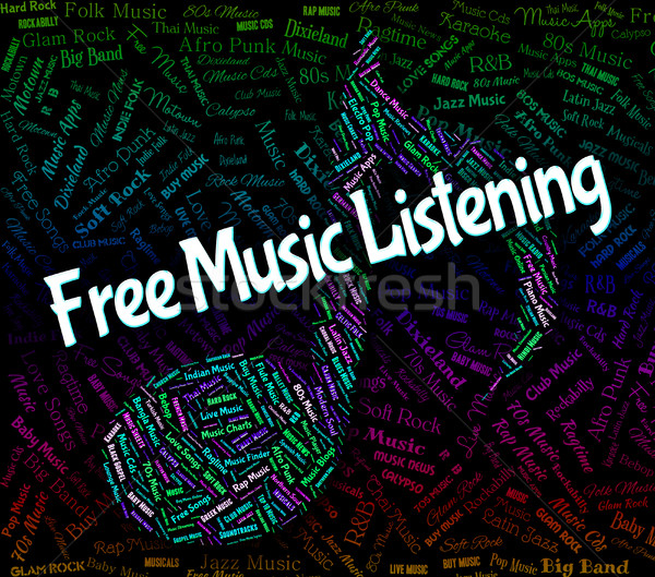 Free Music Listening Indicates Sound Track And Audio Stock photo © stuartmiles