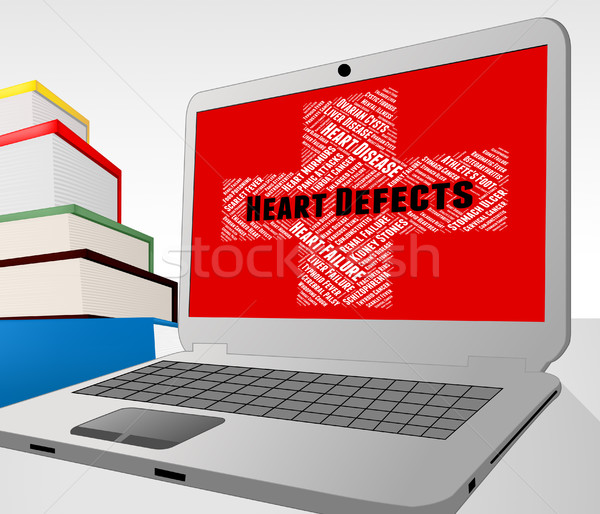 Heart Defects Means Deficiencies Deformity And Blemishes Stock photo © stuartmiles