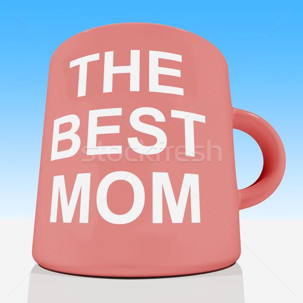 ストックフォト: ベスト · ママ · マグ · 空 · 愛する
