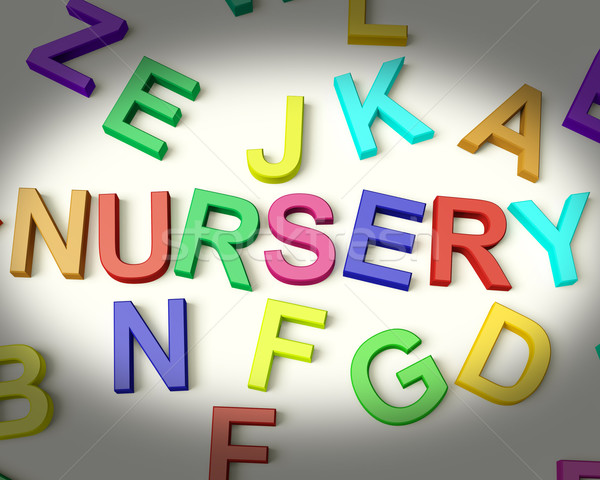 Nursery Written In Plastic Kids Letters Stock photo © stuartmiles