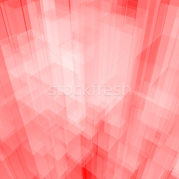 Bright Glowing Pink Glass Background With Artistic Cubes Or Squa Stock photo © stuartmiles
