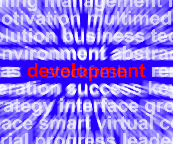 Development Word Shows Improvement Advancement And Growth Stock photo © stuartmiles