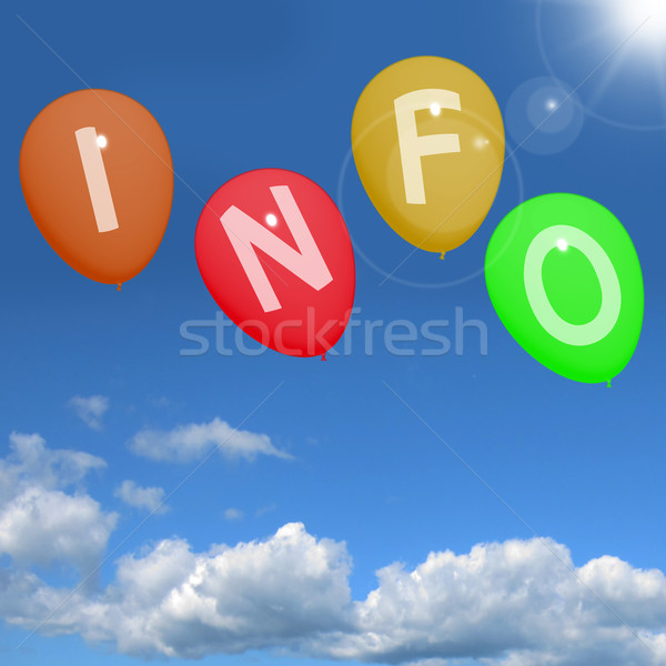 Info Balloons In Sky Showing Information And Support Stock photo © stuartmiles