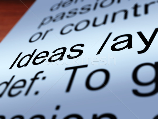 Stock photo: Ideas Definition Closeup Showing Creative Thoughts