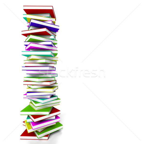Stack Of Books With Copyspace Representing Learning And Educatio Stock photo © stuartmiles