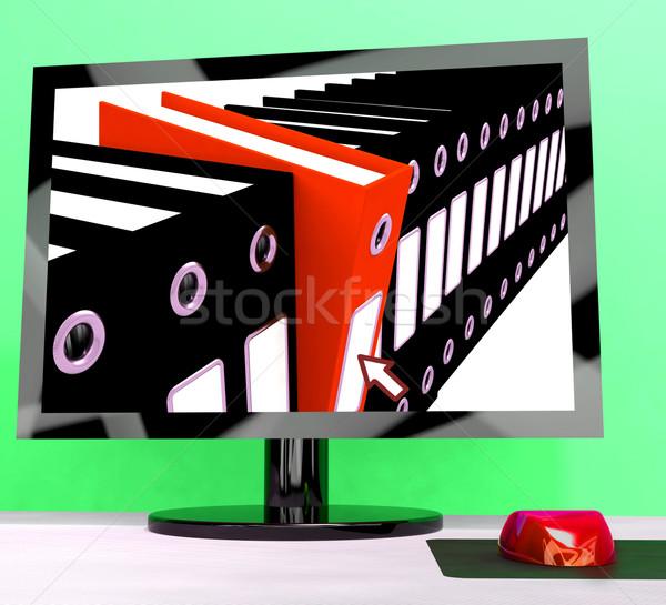 Számítógép akták előadás szervez adat mutat Stock fotó © stuartmiles