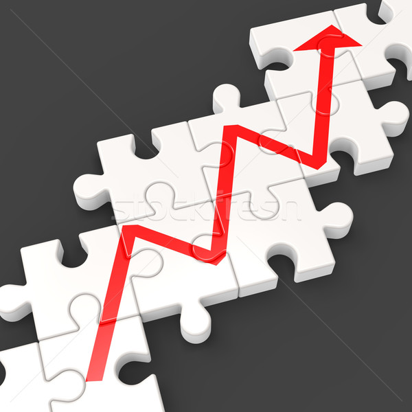 Profit Line Puzzle Shows Increased Financial Target Stock photo © stuartmiles