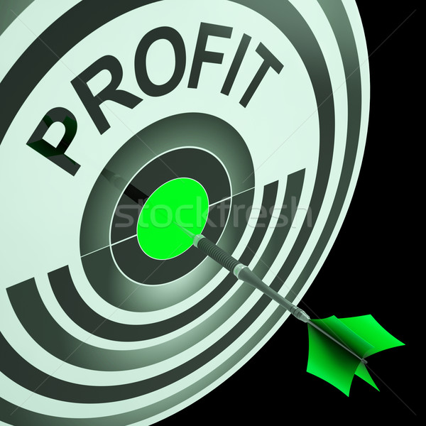 Profit Means Financial Success And Earning Revenue Stock photo © stuartmiles