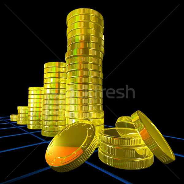 Pile Of Coins Shows Monetary Success Stock photo © stuartmiles