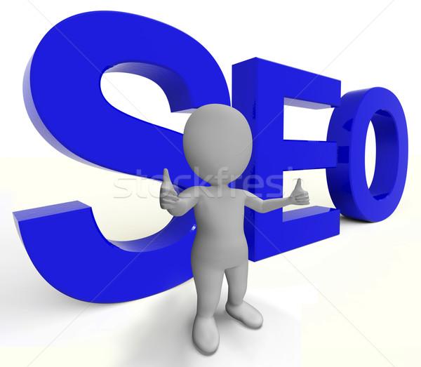 Seo Word Represents Internet Optimization And Promotion Stock photo © stuartmiles