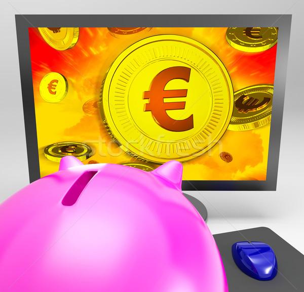 Euro moneta finanziare abbondanza risparmio Foto d'archivio © stuartmiles