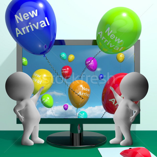 New Arrival Balloons From Computer Showing Latest Products Stock photo © stuartmiles