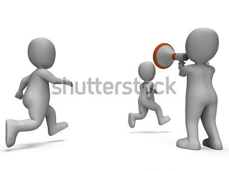 を実行して インストラクター ジョギング 実行 トレーナー ストックフォト © stuartmiles
