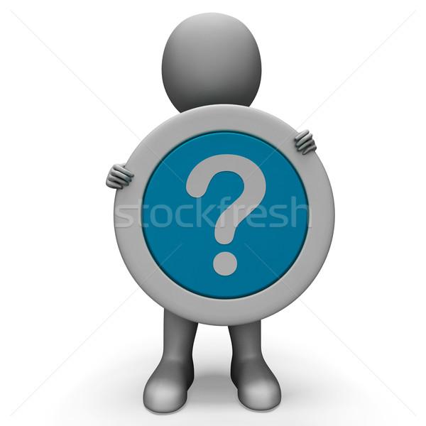 Ponto de interrogação confusão duvido pergunta confuso 3D Foto stock © stuartmiles