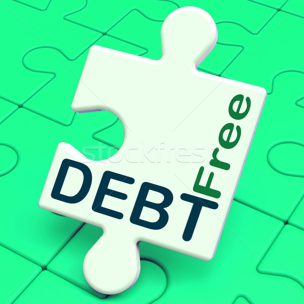 Debt Free Puzzle Means Financial Freedom And No Liability Stock photo © stuartmiles